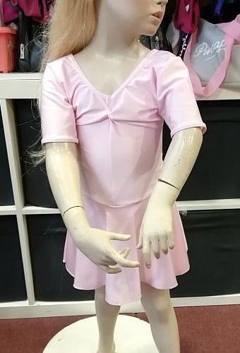 "Arabesque ""Lisa"" Leotard with Attached Skirt - Pink"