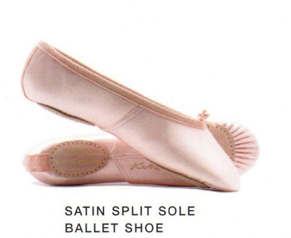 Satin Split Sole Ballet Shoe