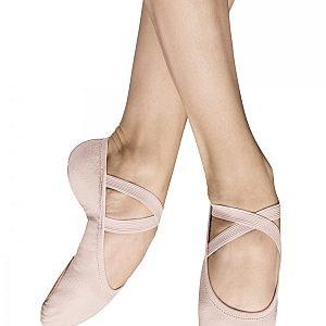 "Bloch ""Performa"" Split Sole Canvas Ballet Shoe - Theatrical Pink"