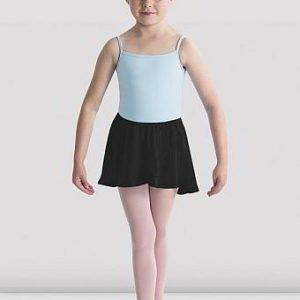 Block Chiffon Wrap Skirt - Black
