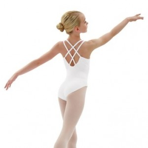 Cotton Lycra Camisole Leotard with Double Strap