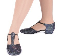 Roch Valley Black Hologram Greek Sandal