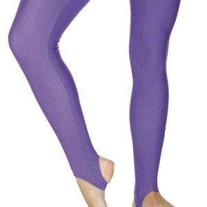 Nylon Lycra Stirrup Leggings - Purple