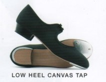 Low Heel Canvas Tap - Toe taps