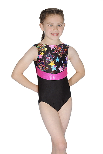Roch Valley RVLA Nylon/Lycra Sleeveless Leotard - Multicoloured