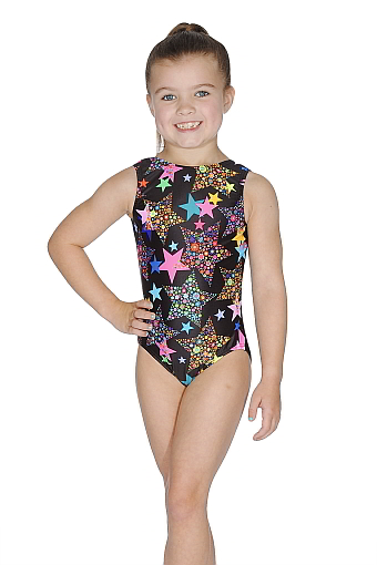 Roch Valley RVLAT Nylon/Lycra Sleeveless Leotard - Multicoloured