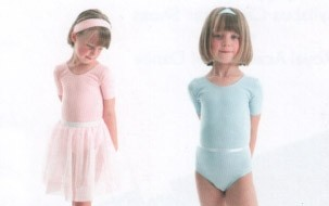 Short Sleeved Cotton Lycra Leotard with Belt