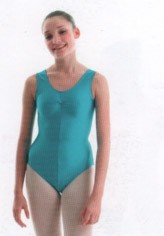 Nylon Lycra Sleeveless Ruched Leotard