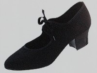Canvas Tap shoes with Cuban Heel