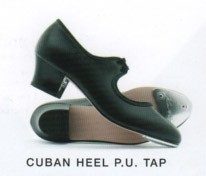 Cuban Heel PU tap with toe taps